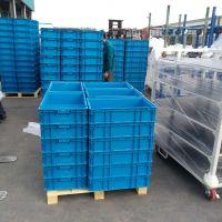 济南潍坊厂家直销KEF-EFT塑料可堆式周转箱物流配送周转箱结实耐用