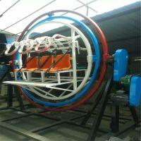 惊险刺激豪华玻璃钢材质太空环六座电动炫彩玩具可移动太空环