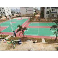 学校丙烯酸球场施工制作 篮球场地坪施工画线 标准尺寸