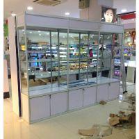 精品展示柜商用珠宝饰品化妆品样品柜烟酒手办模型玻璃柜子陈列柜