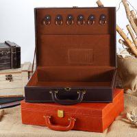 交房箱房产交付合同箱交房盒钥匙手提箱高档皮质礼品盒定制