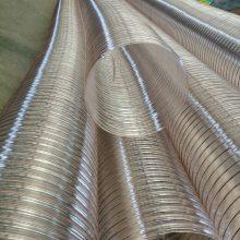 厂家供应pu钢丝伸缩管镀铜钢丝吸尘管输送颗粒软管