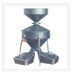 中西(LQS促销)不锈钢钟鼎式分样器(小号) 型号:HT4-JFYZ库号:M298466