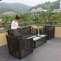 户外家具 藤制桌椅 庭院休闲桌椅