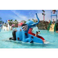 广州润乐水上乐园设备提供戏水小品——小象滑梯