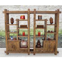 宏森瑞林新中式博古架现在简约实木置物架书房书架白蜡木全实木装饰架