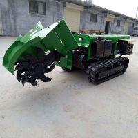 启航自走式旋耕施肥回填机 履带式开沟施肥机 新型田园管理机价格