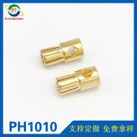 8.0mm黄铜镀金香蕉插头 EC6航模电池大电流插头