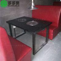 韩国木炭烧烤桌子 碳式烧烤火锅桌椅 多多乐家具