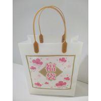厂家定制生产HDPE/LDPE 礼品礼盒包装袋/ 商场购物手提袋/叉耳袋