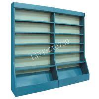 顺德均安图书架定做学生单面钢木书架铁皮书柜配套优粤厂家定制
