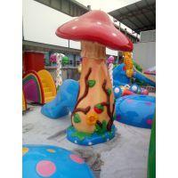 广州润乐水上乐园设备供应戏水小品-蘑菇滑梯