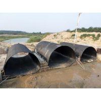 波纹涵管厂家 河南钢波纹管涵 螺旋管施工 国标现货 Q235A热轧钢板