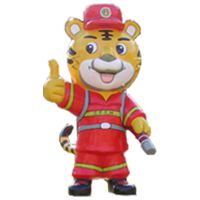 江西盛和隆智能语音雕塑 森林消防机器人虎威威定制厂家