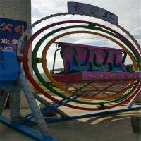 延安小型儿童游乐场炫彩设备360度旋转太空环设备广场炫彩太空座椅