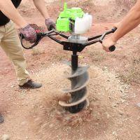 四冲程汽油单人地钻挖坑机 启航刨地坑挖树窝机 立柱打桩机