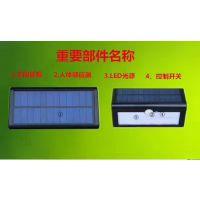LED太阳能人体感应壁灯 太阳能路灯 太阳能庭院灯 户外灯