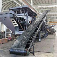 山东潍坊时产200吨砂石移动破碎生产线 安丘移动石灰石碎石机多少钱