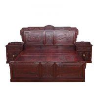 941红木网_古典中式卧室家具【非洲酸枝雕花大床】_红木家具加盟