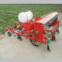 普航推荐花生喷药覆膜一体机 拖拉机牵引的花生覆膜播种机 单粒花生精播机