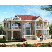 萍乡别墅设计AT1790漂亮二层简欧带车库复式别墅设计施工图纸18.9mX16.2m