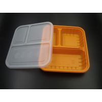 GP-301 三格 一次性餐具 PP环保快餐盒 一次性饭盒 外卖打包盒