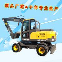 云南省昆明市交通施工用胶轮小型挖掘机 卖家热线
