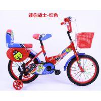 供应3-8周岁星娃娃12寸14寸16寸蓝色-红色-粉色-绿色,儿童自行车-迷你战士
