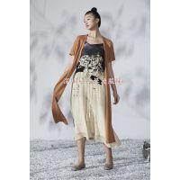 深圳必然纯色棉麻折扣女装供应 欧美风格品牌女装尾货批发