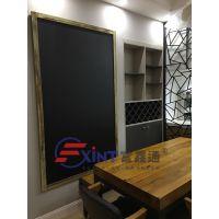 东莞单面挂式黑板F韶关粉笔涂画黑板X可配磁性挂式写字板