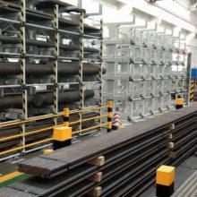 河北聚氨酯保温管存放仓库 保温管存放架 伸缩悬臂式货架厂家