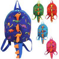 新款恐龙儿童书包 卡通幼儿园背包 可爱烫花防走失书双肩包