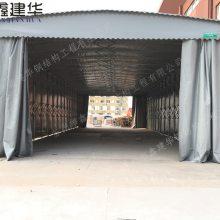 南通如东县鑫建华定做移动雨棚布,大型户外仓库伸缩篷,推拉棚,多少钱一平方