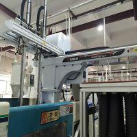 注塑机专用单斜臂、双臂伺服机械手、三轴、五轴机械手,全自动生产、好用实用、价格便宜