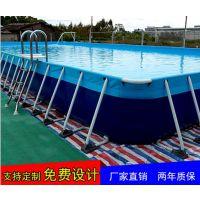 夏天一米深的玩水池子哪买 支架水池买多大的 1.3深镀锌款钢架水池价格