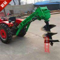 大型挖坑机拖拉机带挖坑机 植树专用设备