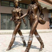 玻璃钢仿真人物雕塑定制商业街装饰商场美陈摆件户外大型雕塑定制工厂