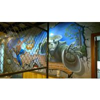 上海云在墙绘公司——上海墙绘工作室餐厅墙绘