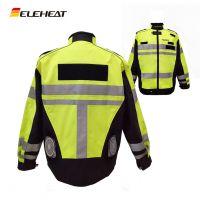 ELEHEAT交通安全服装户外降温工作服安防风扇空调服反光背心安全马甲EH-JAC-057