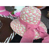 遮阳大沿草帽 创意地摊帽子批发 5元模式女士夏凉帽太阳沙滩帽新产品沙缇
