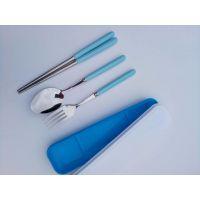 糖果色勺筷、儿童不锈钢餐具、名瑞厂家批发