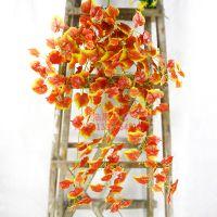 东莞南城植物壁挂 仿真红枫叶 黄白边番茨叶 装饰餐厅公园幼儿园塑料藤条壁挂 可来图定制