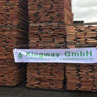 金威木业最新到港德国进口FSC认证优质A级榉木毛边板 地板门床家具材32-80mm