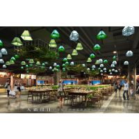天霸设计用心打造的海南美食城设计项目更受消费者欢迎!