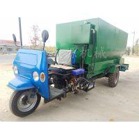 加厚箱体青贮撒料车 养殖大型电动撒料车