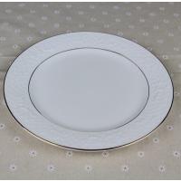 达美厂家批发玫瑰浮雕骨质瓷餐厅用品 陶瓷餐具摆台套装盘子 定制画面