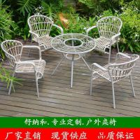 户外编藤家具 室外休闲桌椅 绿色环保优质PE编藤户外桌椅