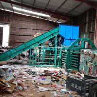 泰州铁麒麟牌100吨废纸箱液压打包机定制