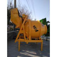 江苏盐城鑫旺柴油混凝土350型双轴自动上料搅拌机