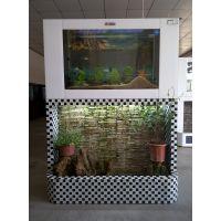 山水墙鱼缸 流水瀑布鱼缸 鱼缸厂家直销
